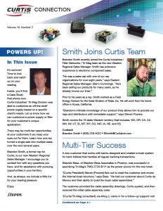 curtis 2019 q2 newsletter focuses on a case study that illustrates how an off the shelf power supply can be customized per a clients needs